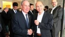 Jenaro García Con Michael Bloomberg